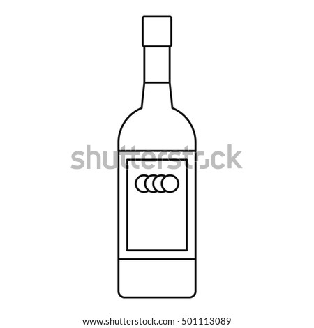 russian vodka bottle icon