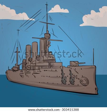 russian warship since the world