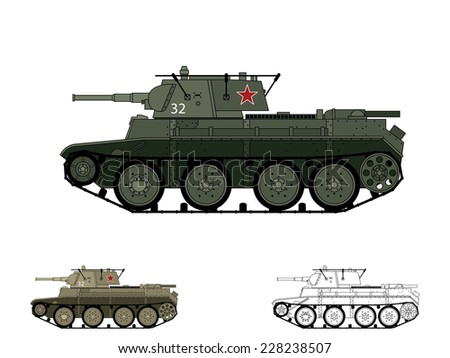 russian ww2 bt 7 tank