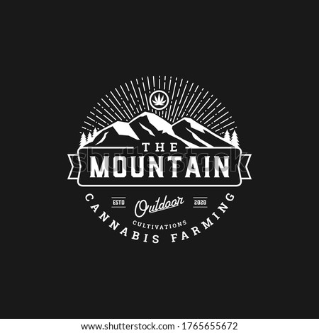 rustic badge mountain cannabis