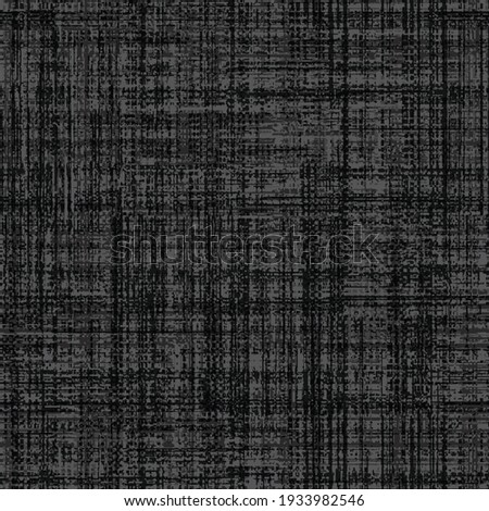 Rustic charcoal grey french linen woven floral texture background. Worn neutral old vintage cloth printed fabric textile. Distressed faded all over print. Irregular uneven stained tonal effect. Stock fotó ©