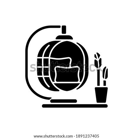 rustic decor black glyph icon
