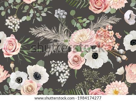 rustic dried flowers pattern