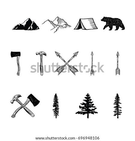 Rustic Illustrations - 13 hand drawn vector illustrations.