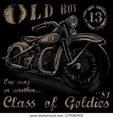 rustic old boy vintage tee