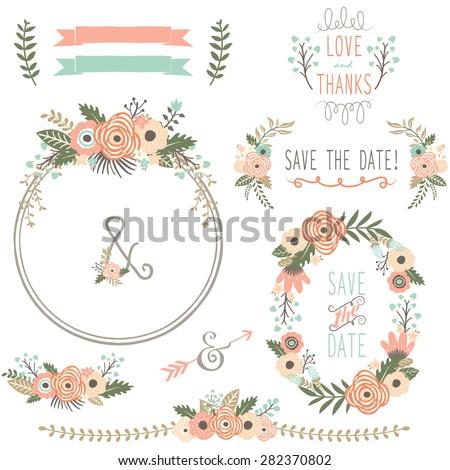 Rustic Wedding Flower Wreath