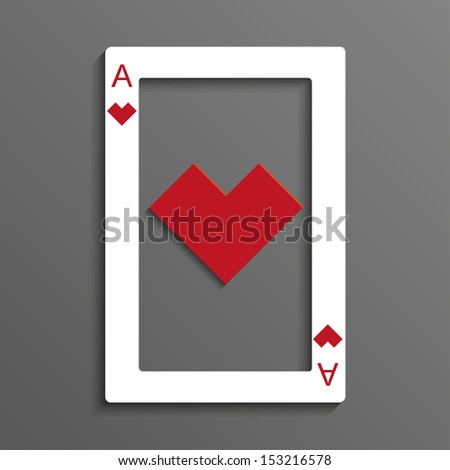 Rustrakehner color hearts playing card ace