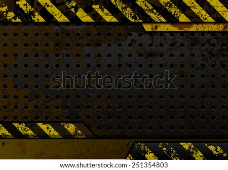 rusty perforated iron plate