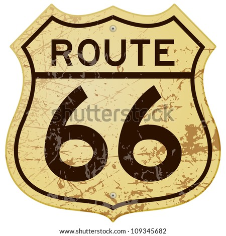 rusty route 66   vintage...