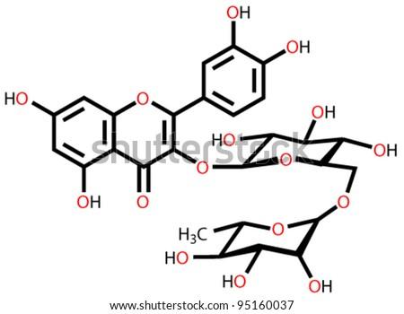 Rutin structural formula