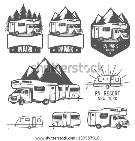rv and caravan park badges and...