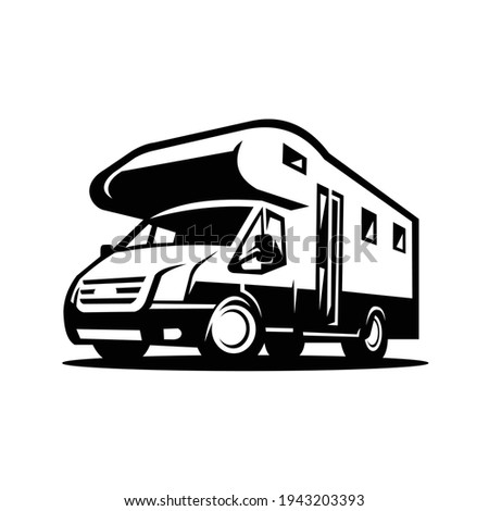 RV Camper Motor Home Vector Isolated
