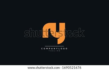 ry ny Letter Logo Alphabet Design Template Vector Stock fotó ©