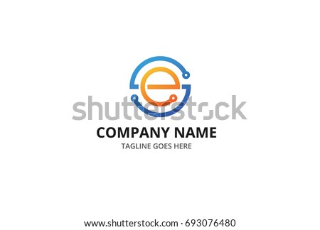 S and E Letter Electrician Logo