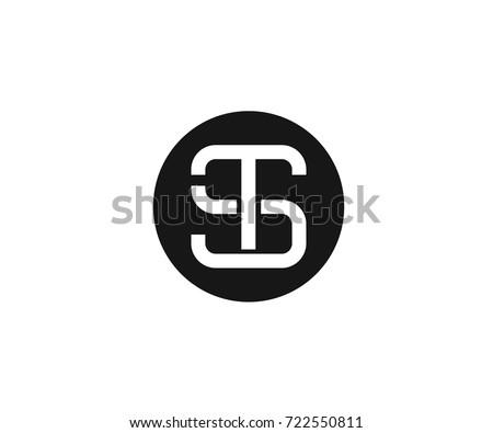S and T Letter Monogram Logo Stock fotó ©