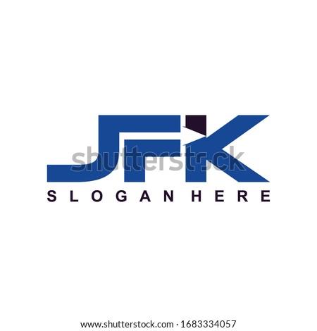 S F K Initial logo template vector, Logo Letter F With K, SFK Logo. Letter Design Vector. Stock fotó ©