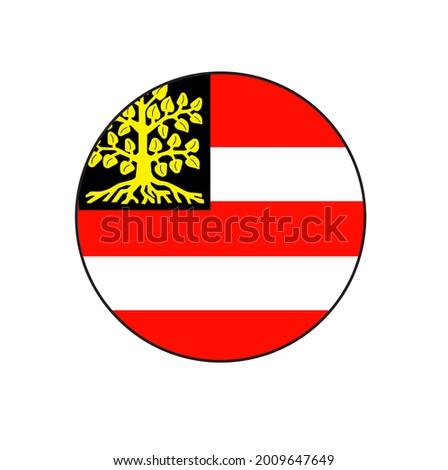 s-Hertogenbosh (Den Bosch) capital city flag circle vector flag in North Brabant province Netherlands