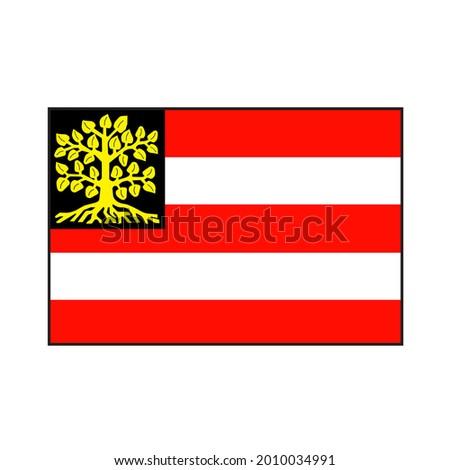 s-Hertogenbosh (Den Bosch) capital city flag rectangle vector flag in North Brabant province Netherlands