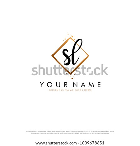 S L Initial abstract logo template vector Stock fotó ©