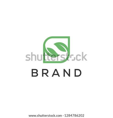 s leaf simple nature logo design