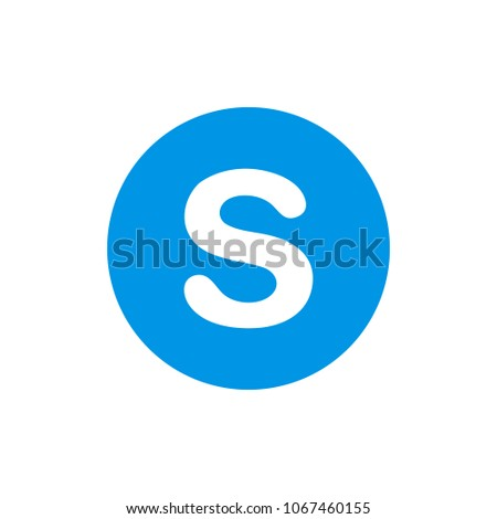 S letter icon isolated on white background. S letter icon for web site, app and logo.