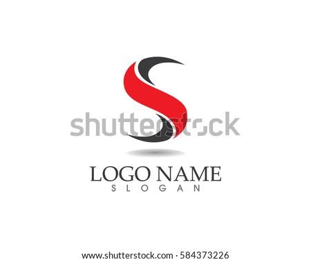 S letter logo  Stok fotoğraf ©