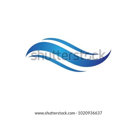 S Letter Water wave Logo Template vector illustration design