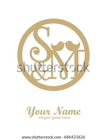 s m initial wedding decorative