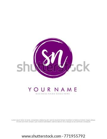 s   n initial splash logo