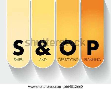 S&OP - Sales and Operations Planning acronym, business concept background Stock fotó ©