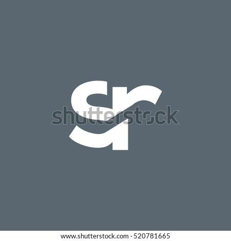 s r letters logo vector