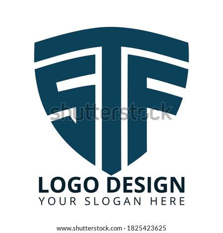 S T F Letter Professional Logo Design Vector Stok fotoğraf ©