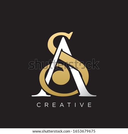 sa logo design luxury icon Stok fotoğraf ©