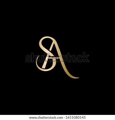 SA logo design. Vector illustration. Stok fotoğraf ©