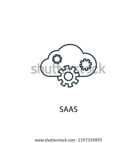 SaaS concept line icon. Simple element illustration. SaaS concept outline symbol design. Can be used for web and mobile UI/UX