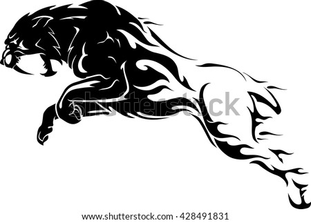 sabertooth flame tattoo