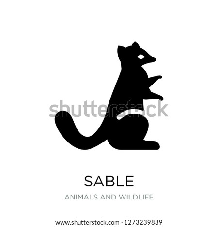 sable icon vector on white background, sable trendy filled icons from Animals and wildlife collection, sable simple element illustration
