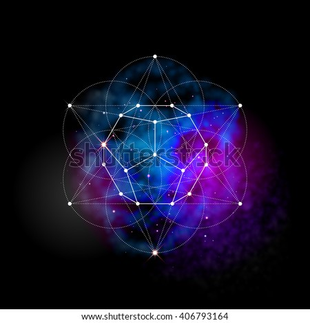 sacred geometry abstract vector