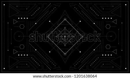 Sacred Geometry Background. Vector illustration