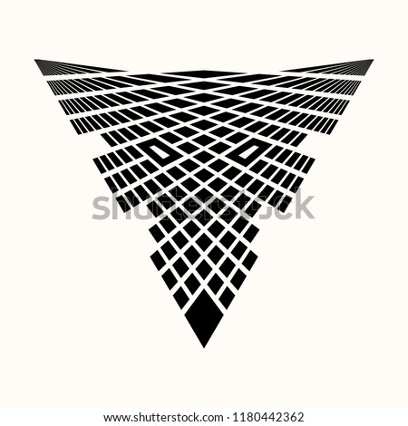 Sacred geometry. Black ethnic totemic geometric tattoo. The head of a wolf collected from triangles and rhombuses.  Puzzle. Totemic animal. Vector illustration.