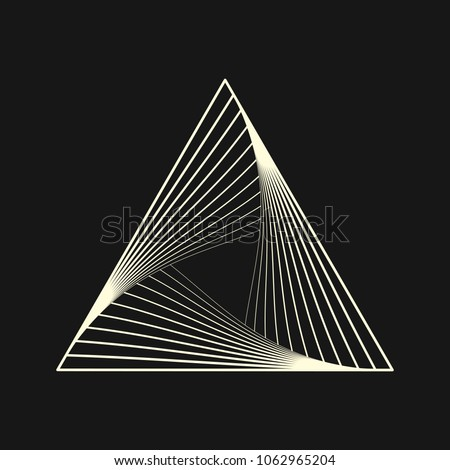 Sacred geometry. Graphic linear triangle. Triangular symbol of life. Secret symbol of geometry. Alchemy; religion; philosophy; astrology and spirituality. Vector illustration.