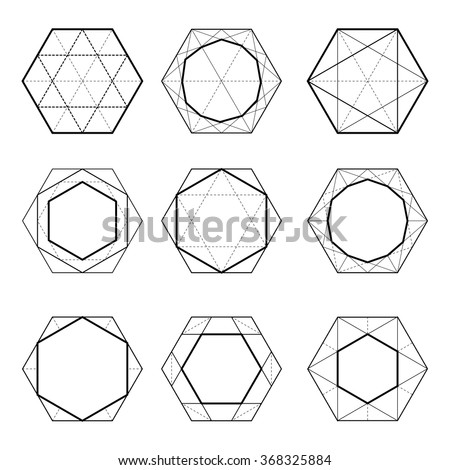 sacred geometry hexagons dodecahedron the linear design elements of the ornament seth cut. Black Bedroom Furniture Sets. Home Design Ideas