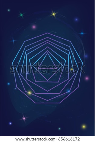 sacred geometry polygon logo