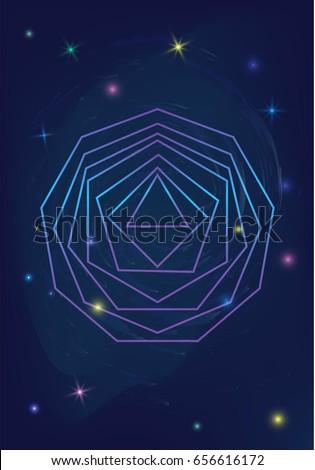 sacred geometry polygon logo