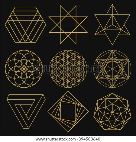 sacred geometry set of figures