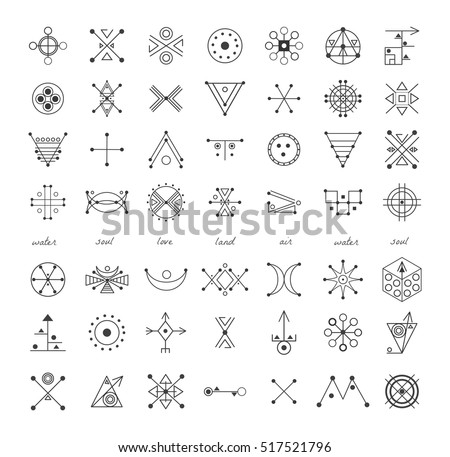 Alchemy Symbols Set Download Free Vector Art Stock Graphics Images