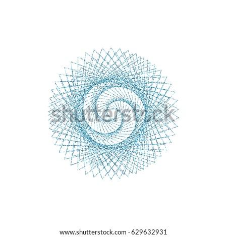 Sacred geometry symbol vector illustration