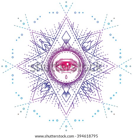 sacred geometry symbol with all ...