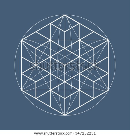 Sacred geometry symbols and elements. Alchemy, religion, philosophy, astrology and spirituality themes