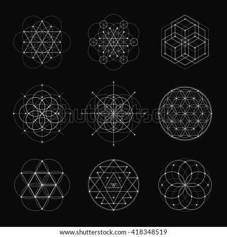 sacred geometry vector design...